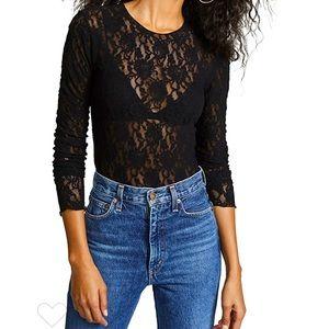 Cherry Mellow bodysuit black lace